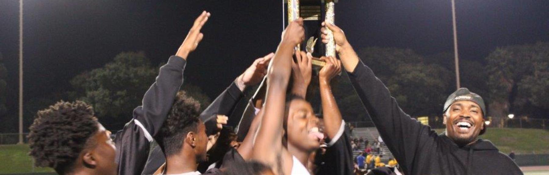 Edendale's football team celebrates their win