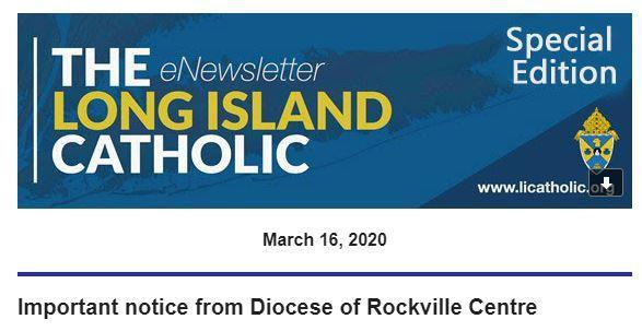 Important notice from Diocese of Rockville Centre Featured Photo