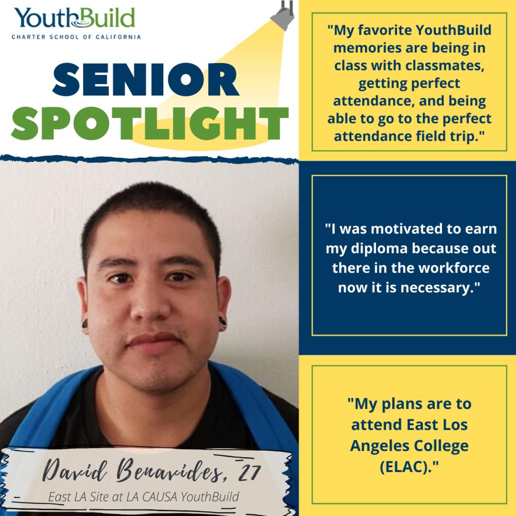 Senior Spotlight for graduate David Benavides