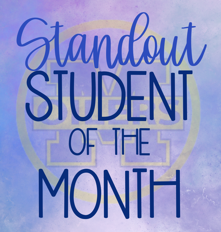 Standout Student of the Month