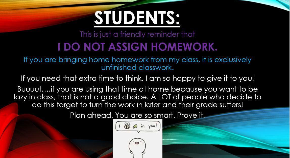 Classwork Reminder