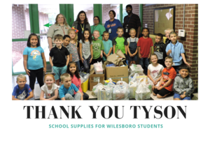 Tyson Employees and Students at WES