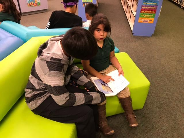 CCA students take a day to read with young learners.