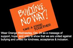Wear Orange Wednesday, Oct. 24 for Unity Day!