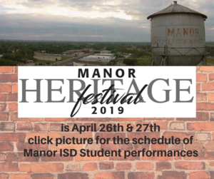 Manor Heritage Festival 2019 April 26 and 27th