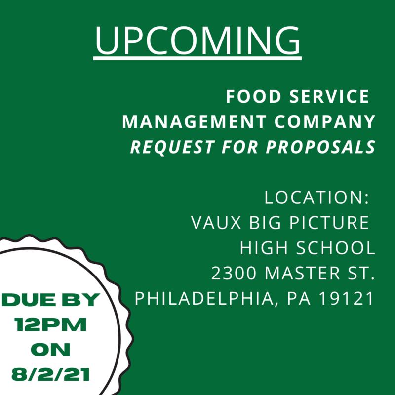 RFPs for Food Service Management
