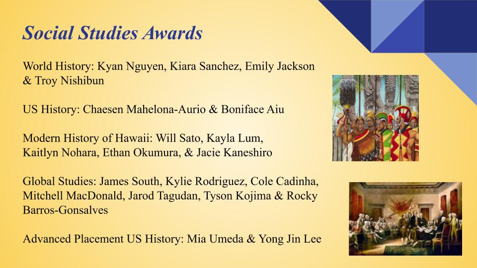 Social Studies Awards