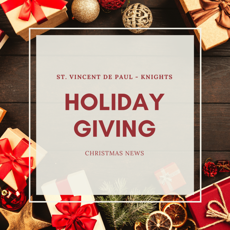 St. Vincent de Paul - Knights Christmas News Featured Photo
