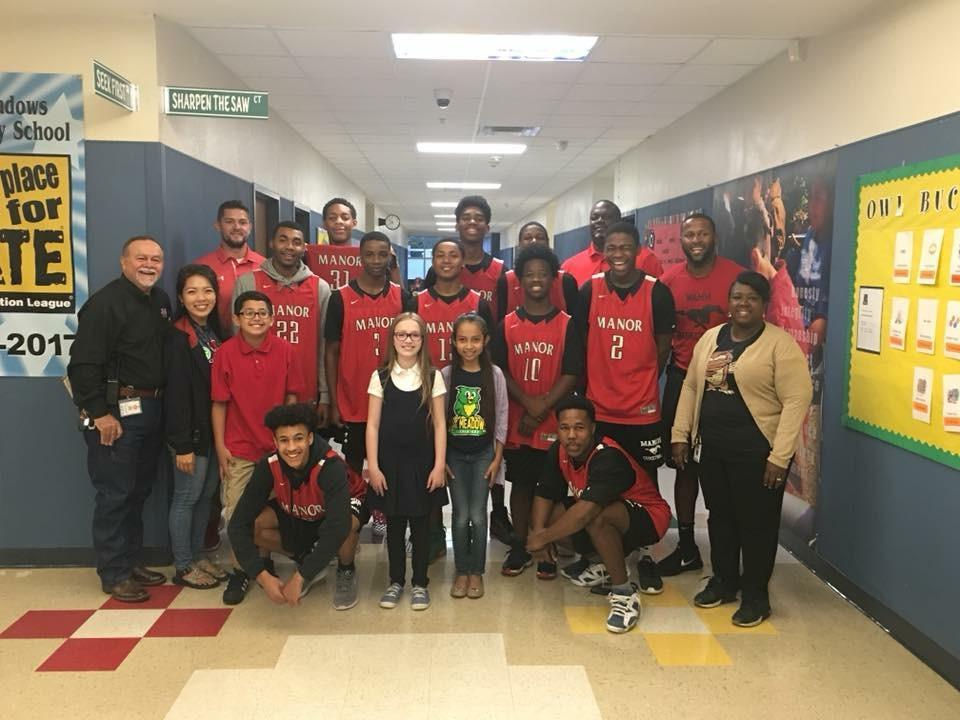 Manor HS basketball team at OME.