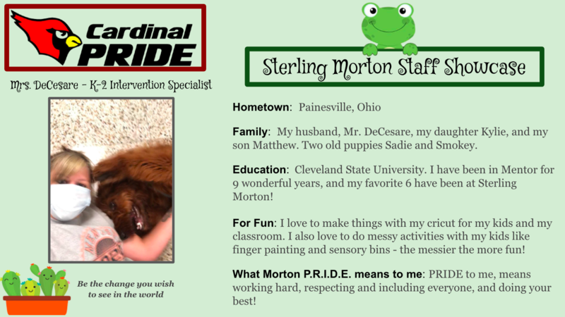 Sterling Morton Staff Showcase Featured Photo