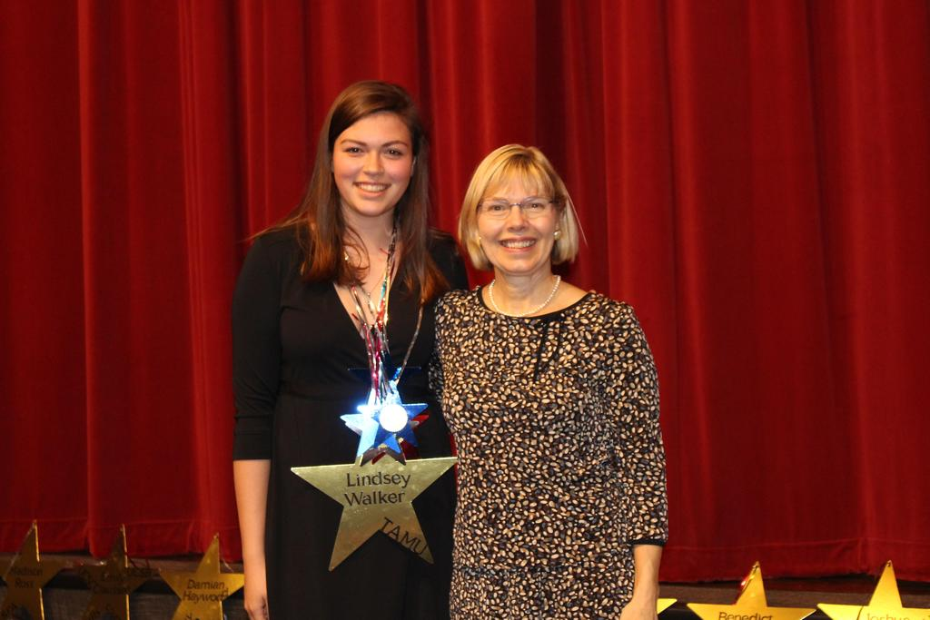 Capital City A&M Club $5,000 L-R Lindsey Walker with Carey Soderstrom, WHS Instructional Strategist