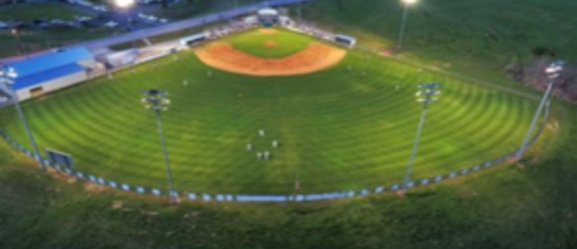 Baseball Field Lighted