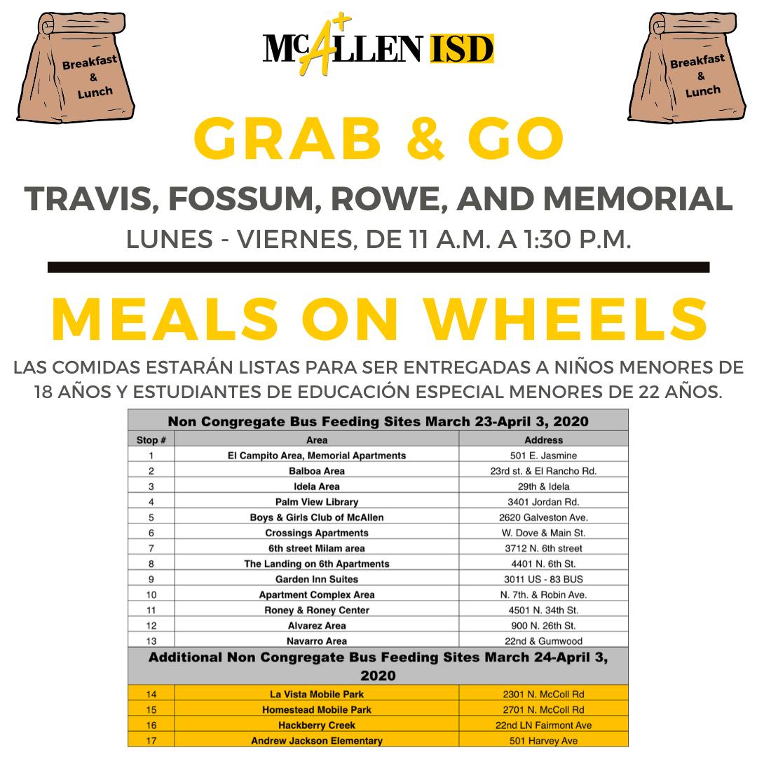 Meals on Wheels spanish