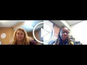 Myrna and Sandra Zoom video