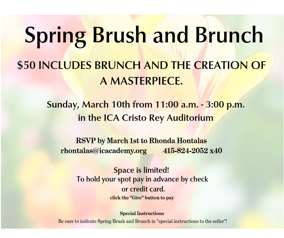 ad for Brush and Brunch Event