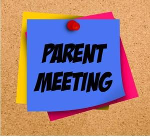 Parent Meeting notes posted on a wall