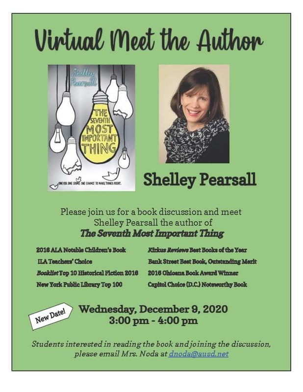 Virtual book discussion flyer