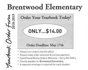 Yearbook ordering details