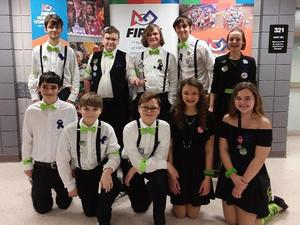 Members of the Mars Advanced Robotics Squad are (back row, from left) Daniel Corcoran, Josh Wollerton, Emmett Bishop, Matthew Gourash, Clara Pitkins, (front row) Isaac Thoman, Miles Stoops, Evan Szafranski, Lindsey Gourash and Zoey Miller.
