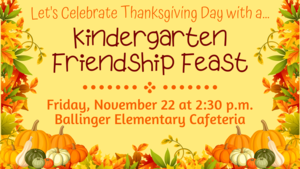 Kindergarten Friendship Feast