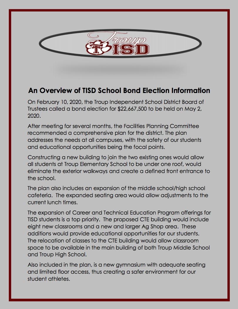 bond election info