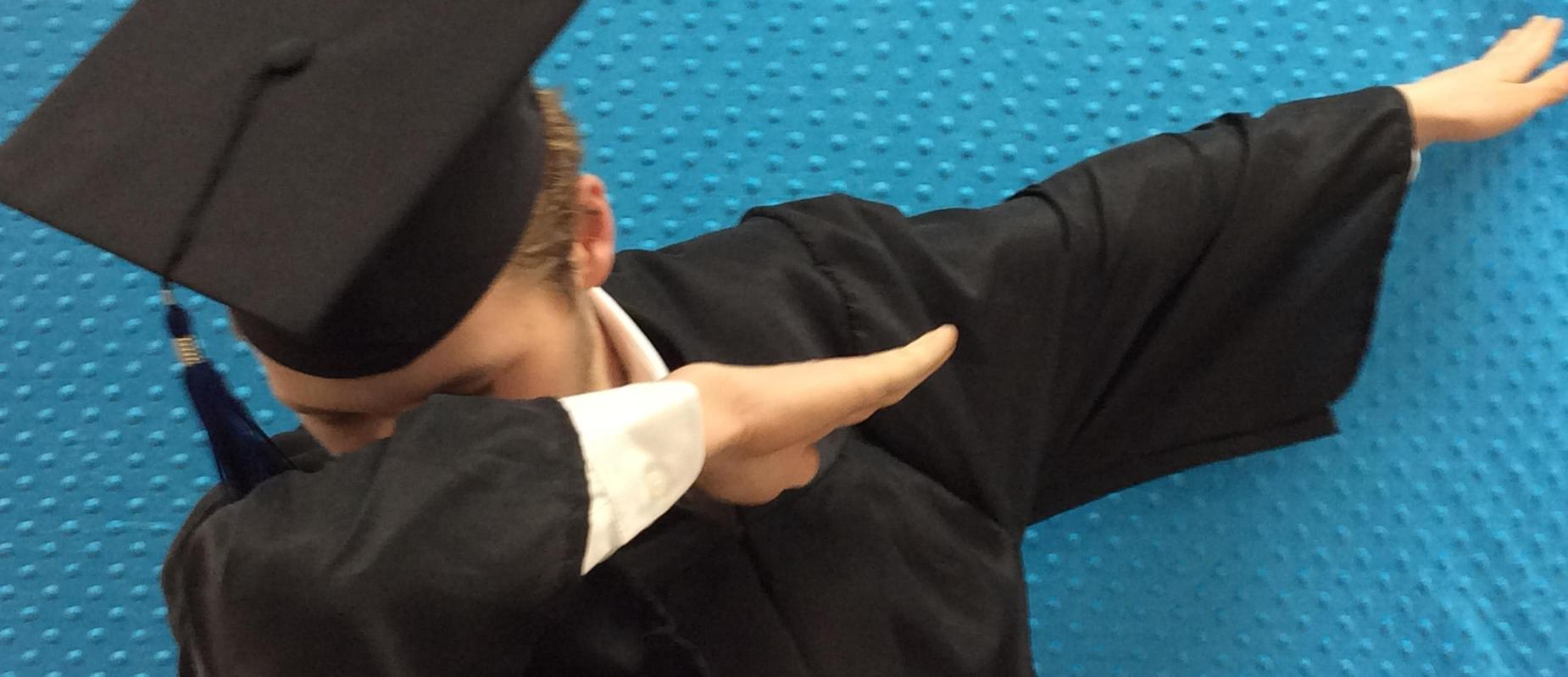 Graduate Having Fun