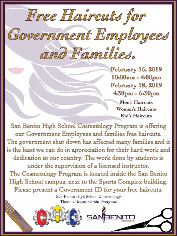 Free Haircut for Government Families and Employees