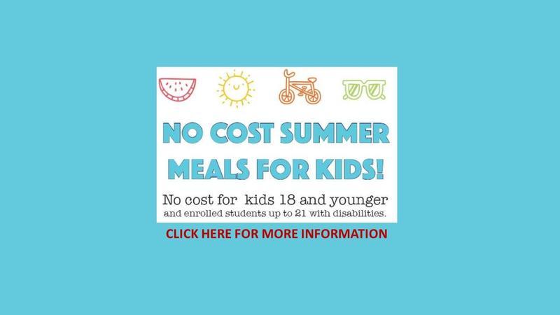 No Cost Summer Meals