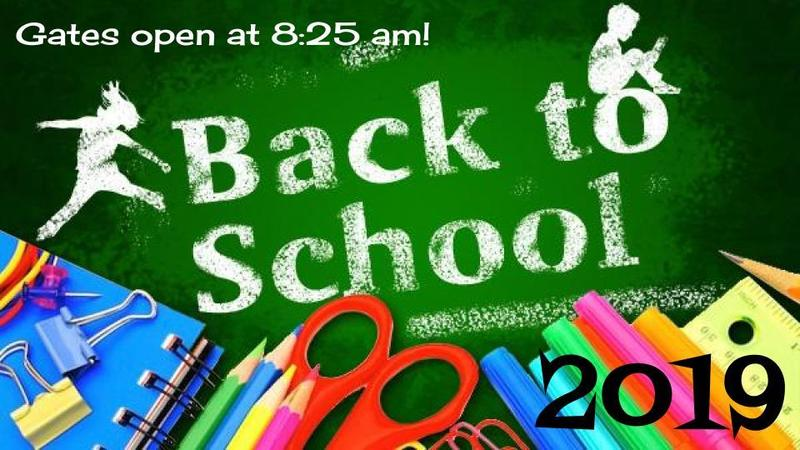 First Day of School - August 12 @ 8:25 am! Thumbnail Image