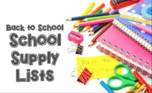 School Supply list clip art