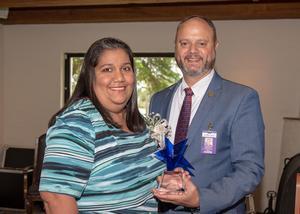Mariza Ybarra and Dr. Nate Carman