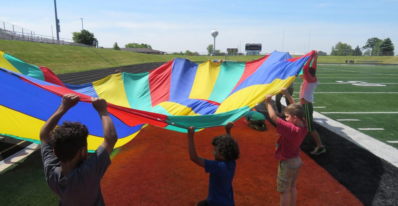 TK CI students enjoy a fun field day.