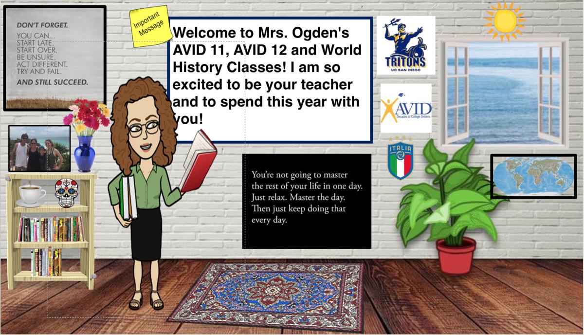 Mrs. Ogden's Bitmoji Classroom