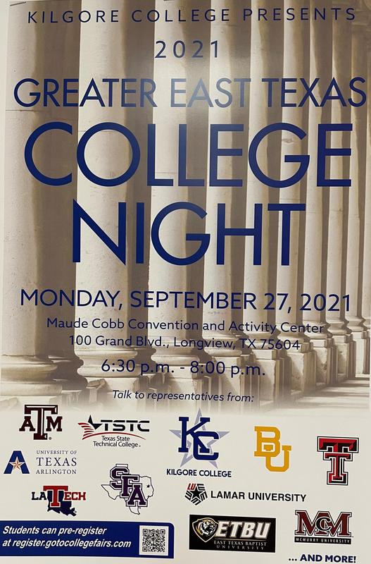 Greater East Texas College Night Featured Photo