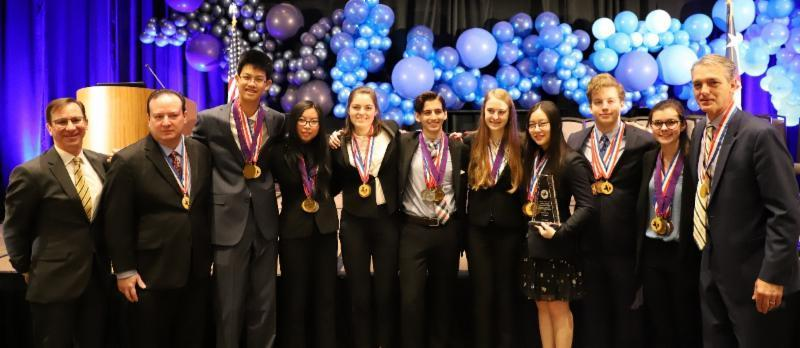 Academic Decathlon team wins third state championship Featured Photo