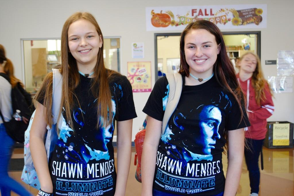 Students dressed up for twin day