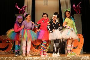 kindergarten teachers dressed as clowns