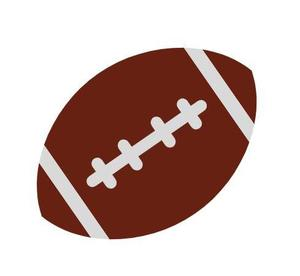 Image of brown and white football.