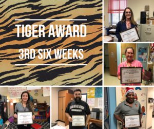 3rd Six Weeks TIGER Award Recipients