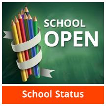 Image that reads school Open - School Status - no links
