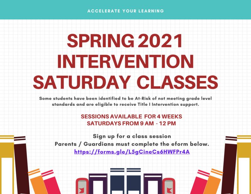 Intervention Saturday Program Featured Photo