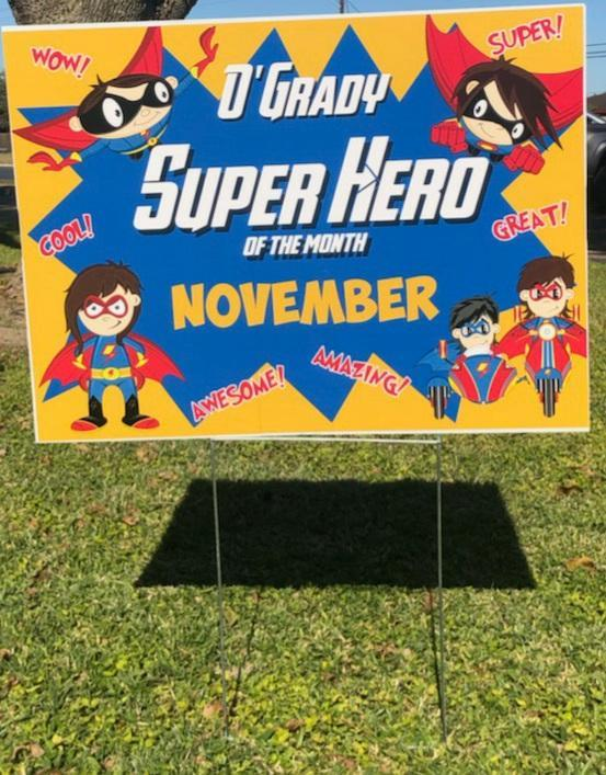 November Superheroes of the Month Featured Photo