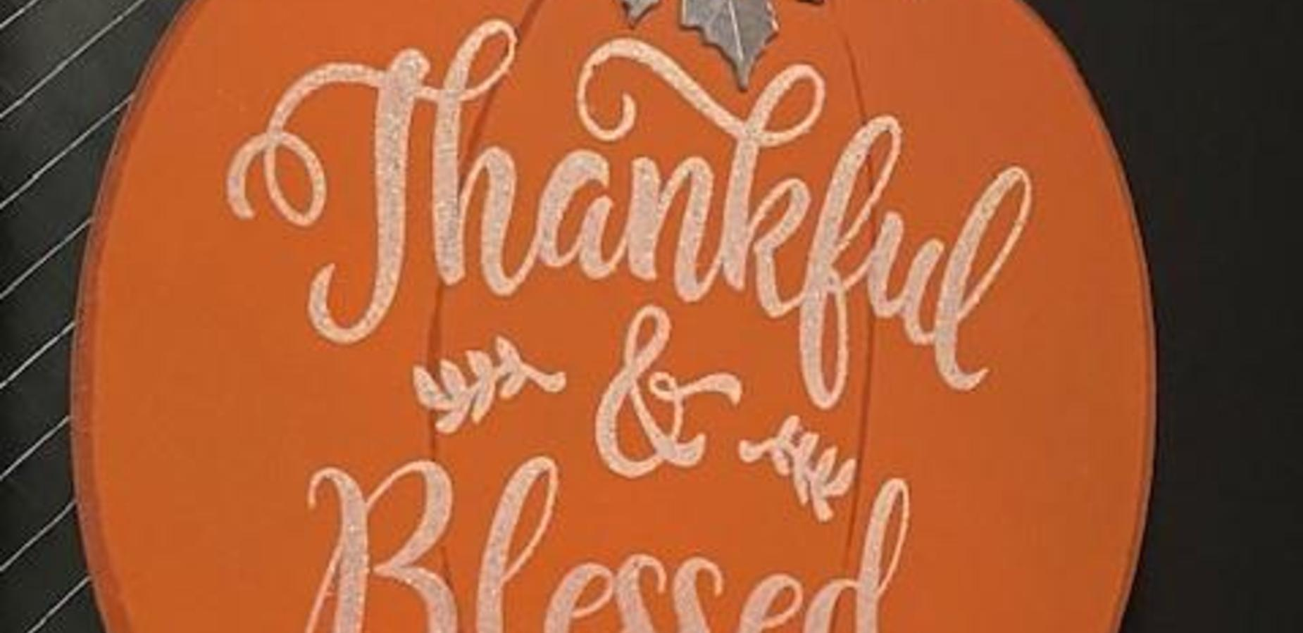 Thankful and Blessed Door Decoration