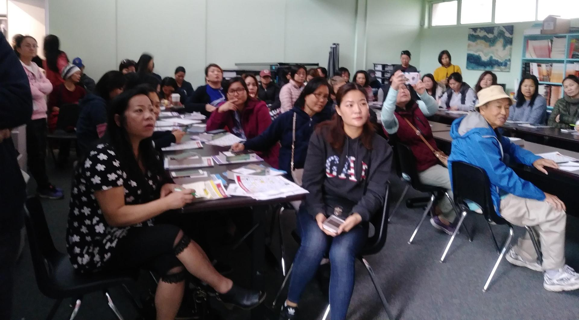 English Learner Parent meeting at Bitely