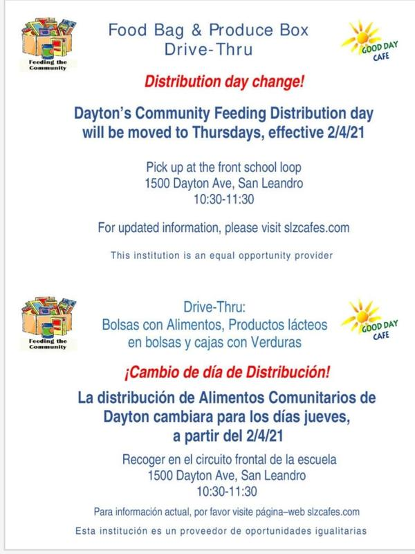 FOOD BAG and PRODUCE BOX DISTRIBUTION CHANGE! Featured Photo