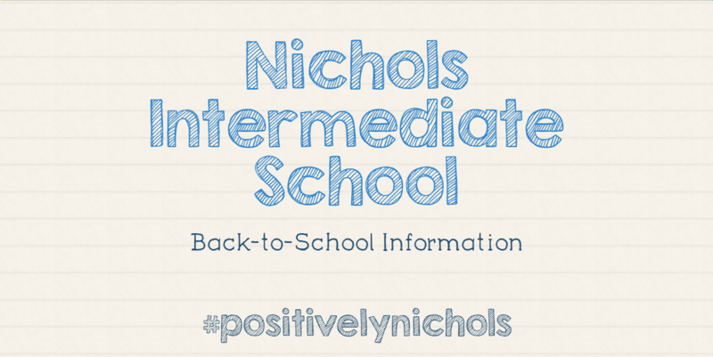 Back-to-School information!