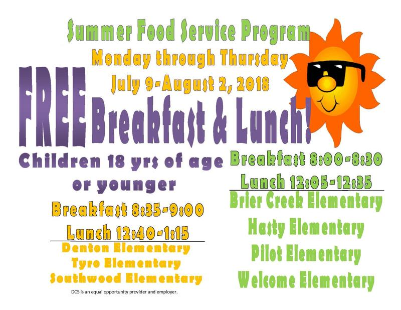 2018 Summer Food Service Program