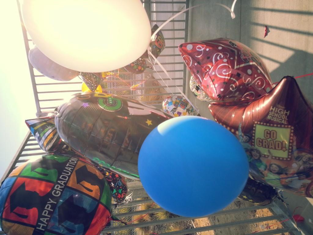 Balloons at graduation