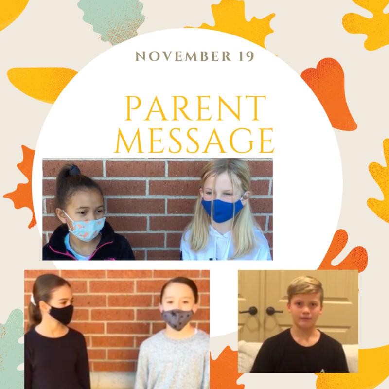 SCIS Parent Message: November 19th, 2020 Featured Photo