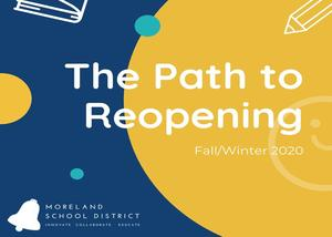 The Path to Reopen Schools ~ Fall/Winter 2020 Thumbnail Image
